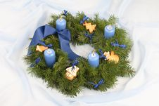 Free Advent Wreath Royalty Free Stock Image - 3782816