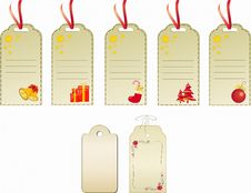 Free Christmas Gift Tags Royalty Free Stock Image - 3783586