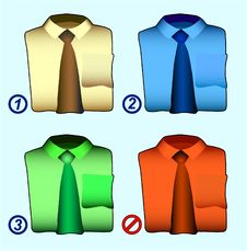 Free Color Shirts Stock Photography - 3784292