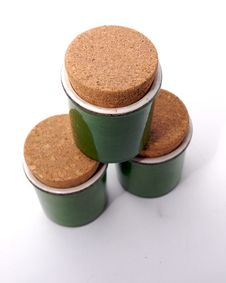 Free Three Green Jar Royalty Free Stock Photos - 3784468