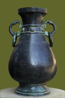 Chinese Bronze Pot Stock Photography