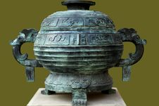 Free Chinese Bronze Pot Royalty Free Stock Image - 3784616