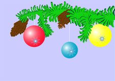Free Balls On Fir Tree Royalty Free Stock Images - 3784859