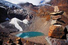 Free Rock And Lake And Jokul Royalty Free Stock Image - 3785266