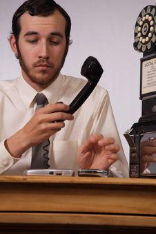 Free Phone Frenzy Stock Image - 3785451