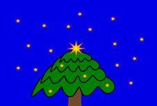 Free Christmas Tree Cartoon Royalty Free Stock Images - 3785939