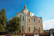 Free Largest Ukrainian Church Royalty Free Stock Photography - 3786117