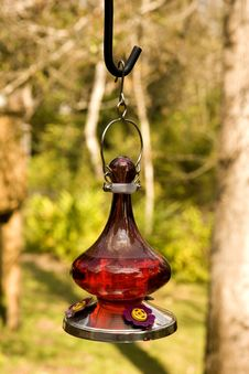 Red Oil Lamp Stock Photo