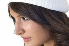 Free Girl With White Hood Royalty Free Stock Photography - 3786467
