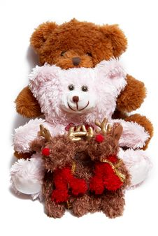 Free Pink Fluffy Bear Sitting By A Red Box Royalty Free Stock Photos - 3786748