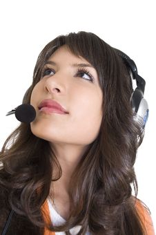 Free Girl With Headphones Royalty Free Stock Photo - 3787045