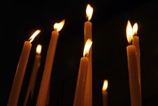 Free Candles In The Night Royalty Free Stock Photos - 3787128