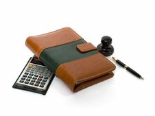 Free Organizer, Calculator, Stamp Royalty Free Stock Images - 3787729