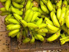 Weighing Bananas Stock Photo
