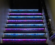 Lighted Staircase Royalty Free Stock Images