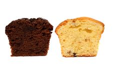 Free Two Pieces Of Muffins Royalty Free Stock Images - 3788809