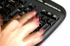 Free Fast Hands Over Keyboard 4 Royalty Free Stock Photography - 3789527