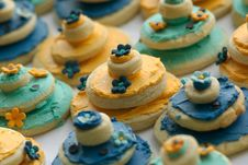 Free Rows Of Delicately Decorated Gourmet Cookies Stock Images - 3789974