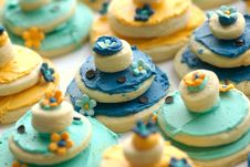 Free Rows Of Delicately Decorated Gourmet Cookies Royalty Free Stock Image - 3789976