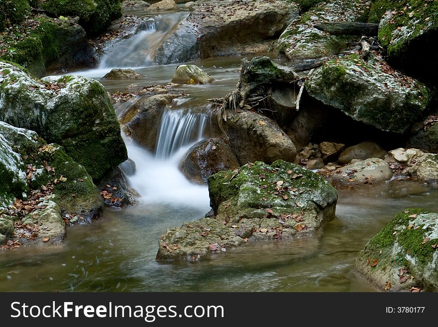 Silky flow of the creek