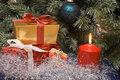 Free Christmas Gifts And Candle Stock Images - 3797054