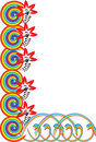 Free Flower And Rainbow Ornament Royalty Free Stock Photo - 3798045