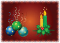 Free Christmas Balls End Candles Royalty Free Stock Photos - 3799178