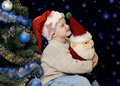 Free The Boy And Christmas Night Stock Photo - 3799590