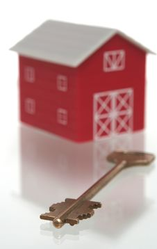 Free The Red House And Key From The House Stock Photos - 3790393