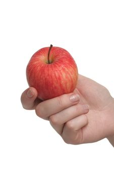 Free Tasty Juicy Apple In A Hand Royalty Free Stock Image - 3790546