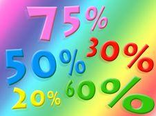 Discounts Stock Image