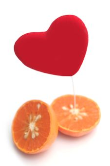 Free Red Heart And Orange Stock Photography - 3790652