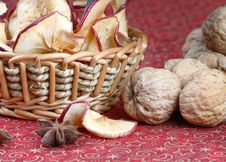 Free Dried Apples, Walnuts And Anise Stock Photos - 3791503