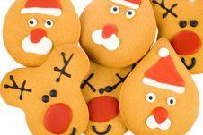 Free Gingerbread Reindeer, Santa Stock Image - 3791971