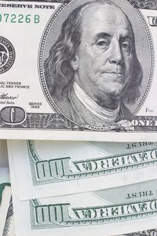 Free Hundred Dollar Bills Royalty Free Stock Photography - 3792547