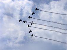 Free Acrobat Propeller Making Smoke Royalty Free Stock Images - 3792559