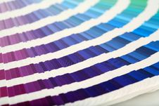 Color Guide Close-up Royalty Free Stock Photography