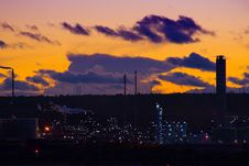 Free Industrial Sunset Stock Photos - 3792593