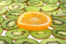 Orange And Kiwi Royalty Free Stock Image