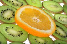Orange And Kiwi Royalty Free Stock Photos