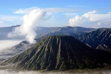 Top Of Mountain Bromo Stock Images