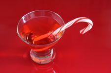 Christmas Cocktail Stock Photography