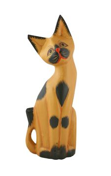 Figurine Of A Cat Stock Photo