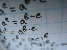 Free Mathematical Formulas Royalty Free Stock Photos - 3794088