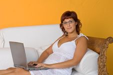 Free Woman With Laptop Royalty Free Stock Image - 3794206