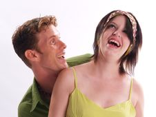 Free Green Couple Royalty Free Stock Photography - 3794237