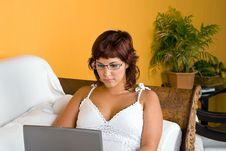 Free Woman With Laptop Stock Photos - 3794293