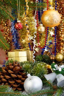 Free Christmas Decorations. Royalty Free Stock Photo - 3794605