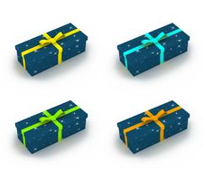 Free Gift Boxes With Little Stars Royalty Free Stock Photography - 3795097
