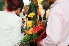 Bright Bouquet Flowers Stock Photos